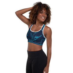 Abstract Padded Sports Bra