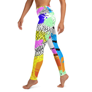 80s Retro Print Yoga Leggings
