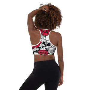 Skull Padded Sports Bra