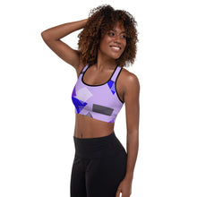 Load image into Gallery viewer, 80s Retro Print Padded Sports Bra
