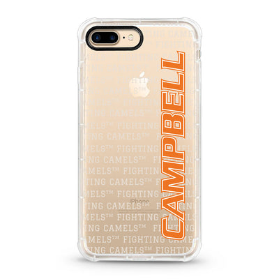 Campbell University, iPhone 7/8 Plus Hybrid Rugged Edge Clear Phone Case, Spirit