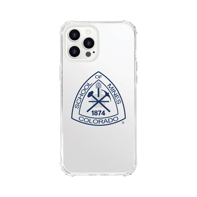 Colorado School of Mines Clear Tough Edge Phone Case, Classic V1 - iPhone 12 Pro