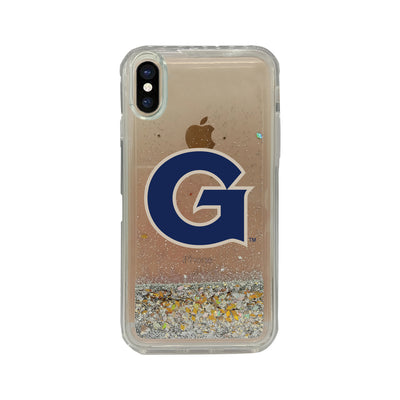 Georgetown Clear Glitter Shell Phone Case, Classic V1 - iPhone X/Xs