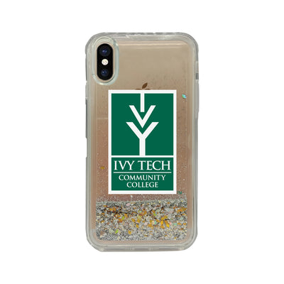 Ivy Tech Community College Clear Glitter Shell Phone Case, Classic V1 - iPhone X/Xs