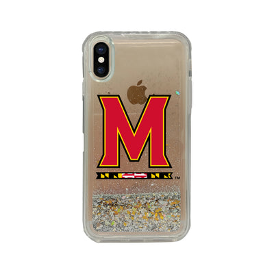 University of Maryland Clear Glitter Shell Phone Case, Classic V1 - iPhone X/Xs