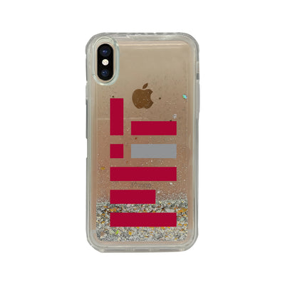 MIT Clear Glitter Shell Phone Case, Classic V1 - iPhone X/Xs