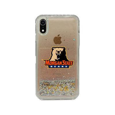 Morgan State University Clear Glitter Shell Phone Case, Classic V2 - iPhone Xr