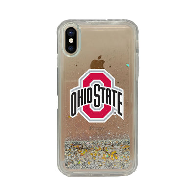 Ohio State University V2 Clear Glitter Shell Phone Case, Classic V2 - iPhone X/Xs