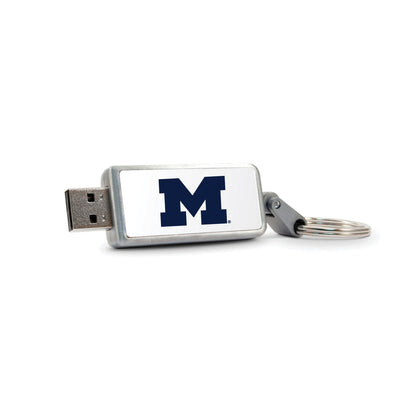 University of Michigan V2 Keychain USB 2.0 Flash Drive, Classic V1 - 32GB