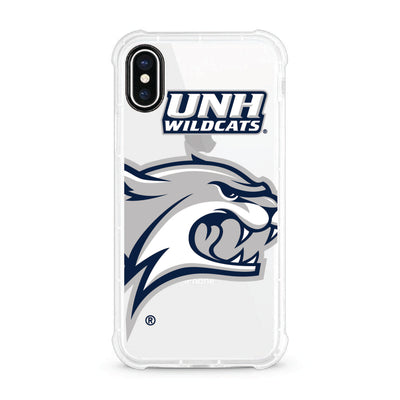 University of New Hampshire V2 Clear Rugged Edge Phone Case, Cropped V1 - iPhone X