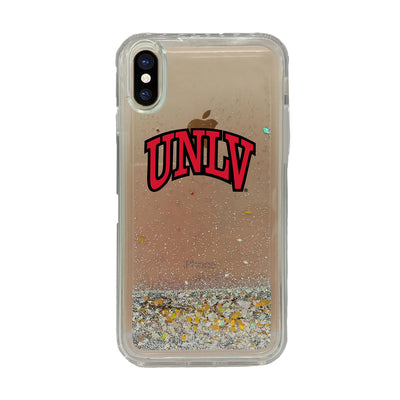 University of Nevada - Las Vegas Clear Glitter Shell Phone Case, Classic V1 - iPhone X/Xs