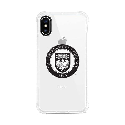 University of Chicago Clear Rugged Edge Phone Case, Classic V2 - iPhone Xs Max