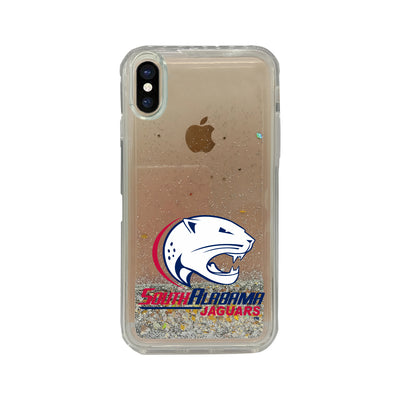 University of South Alabama Clear Glitter Shell Phone Case, Classic V1 - iPhone X/Xs