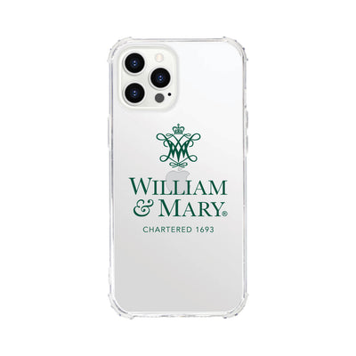 College of William & Mary V2 Clear Tough Edge Phone Case, Classic V1 - iPhone 12 Pro