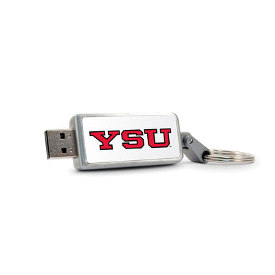 Youngstown State University Keychain USB Flash Drive, Classic V1 - 16GB