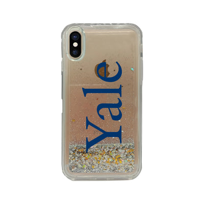 Yale University Clear Glitter Shell Phone Case, Classic V1 - iPhone X/Xs