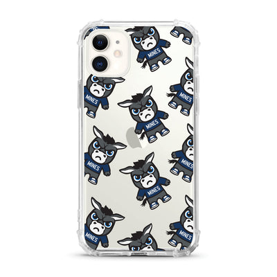 Colorado School of Mines (Tokyodachi) Clear Tough Edge Phone Case, Mascot V2 - iPhone 11