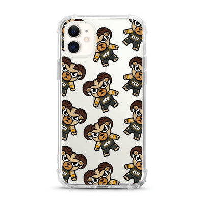 Virginia Commonwealth University V2 (Tokyodachi) Clear Tough Edge Phone Case, Mascot V2 - iPhone 11
