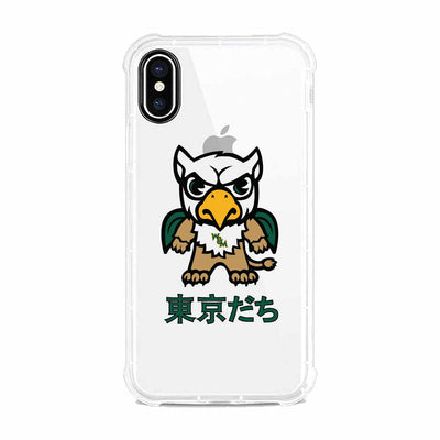 College of William & Mary (Tokyodachi) Clear Tough Edge Phone Case, Classic V1 - iPhone XS Max