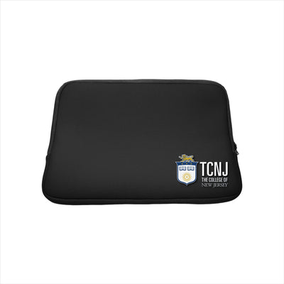 The College of New Jersey Black Laptop Sleeve, Classic V1 - 15""