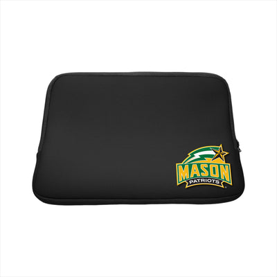 George Mason University Black Laptop Sleeve, Classic - 15""