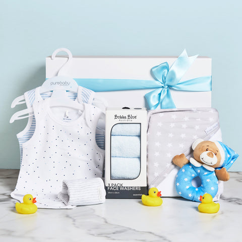 Love & Kisses Baby Boy Hamper