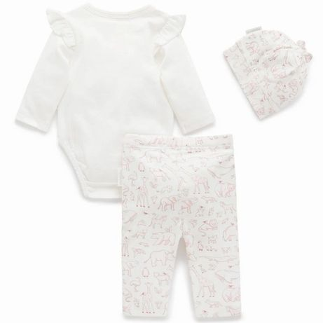 Purebaby Animal Kingdom 3 piece Gift pack