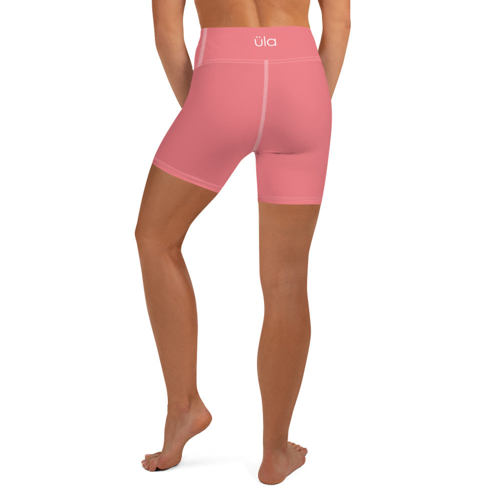 Üla Women's Pink Curvy High-Waist Shorts
