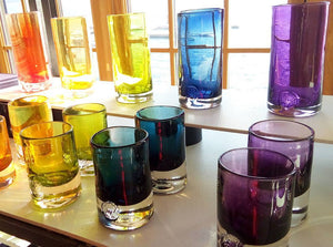 OLD FASHIONED GLASSES: COLOURED
