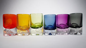 colourful old fashion glasses