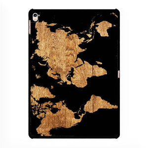 world map wood,Mobile Phone Cases,IPAD PRO 12.9