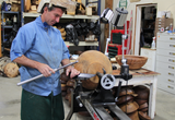 Wood lathe turning tool by Carter and Son Toolworks and Mike Mahoney.