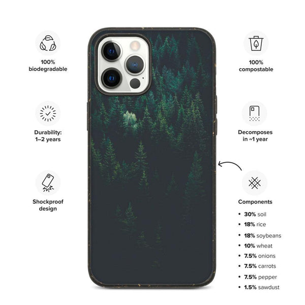 Biodegradable Phone Case - Moody Forest