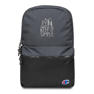 Embroidered Champion Backpack - Keep It Simple - Thegreatplanet