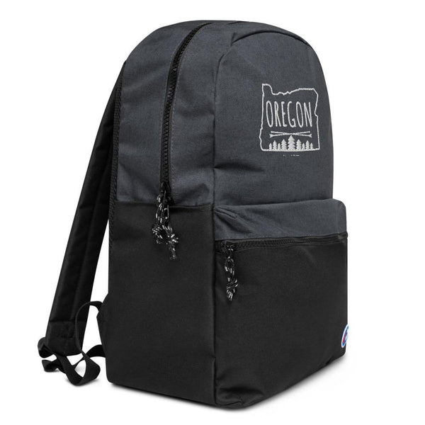 Embroidered Champion Backpack - OREGON MAP - Thegreatplanet