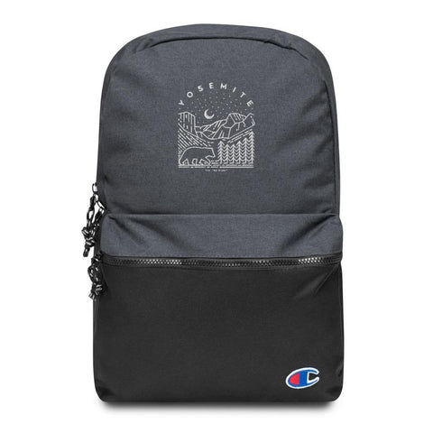 Embroidered Champion Backpack - YOSEMITE - Thegreatplanet
