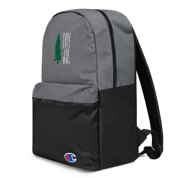 Embroidered Champion Backpack - ADVENTURING - Thegreatplanet