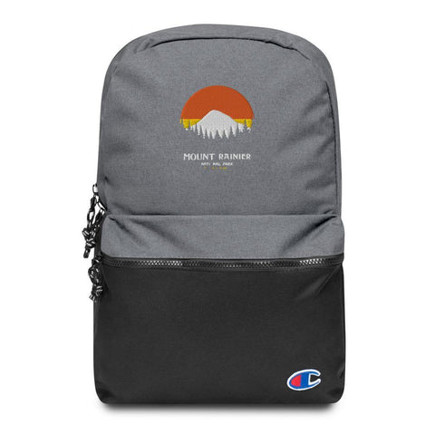 Embroidered Champion Backpack - Mount Rainier - Thegreatplanet