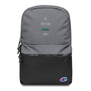 Embroidered Champion Backpack - Green - Thegreatplanet