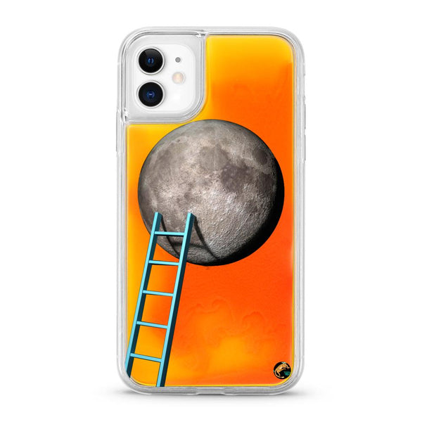 Moon Pattern Neon Quicksand iPhone Case for iPhone 11 - The Great Planet Official Store