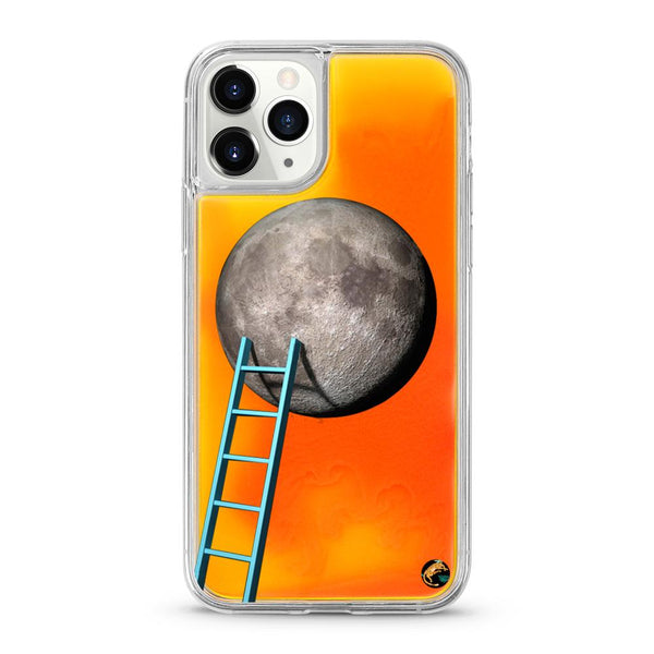Moon Pattern Neon Quicksand iPhone Case for iPhone 11 Pro - The Great Planet Official Store