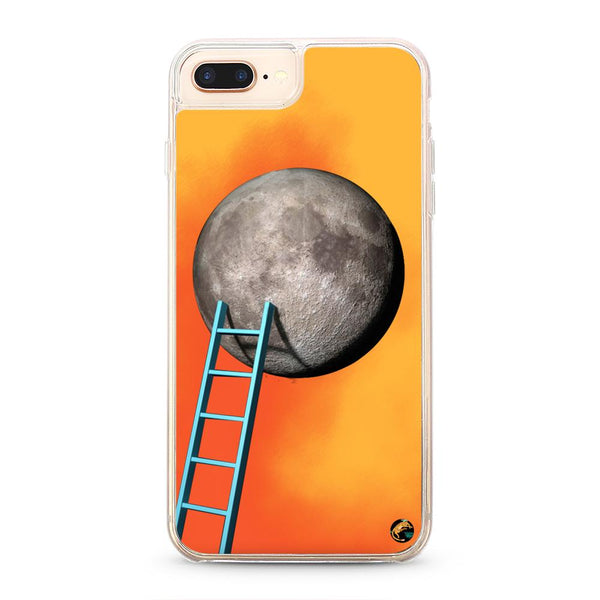 Moon Pattern Neon Quicksand iPhone Case for iPhone 7/8 Plus - The Great Planet Official Store