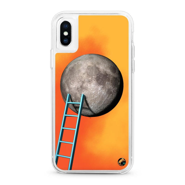 Moon Pattern Neon Quicksand iPhone Case for iPhone X/XS/XS Max - The Great Planet Official Store