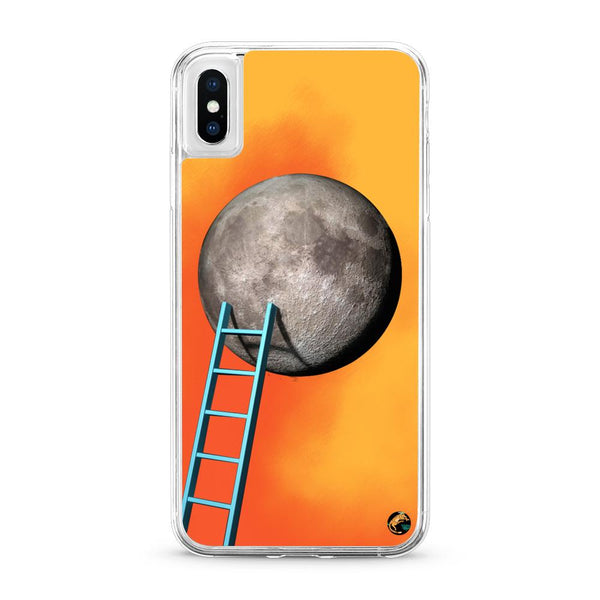 Moon Pattern Neon Quicksand iPhone Case for iPhone X - The Great Planet Official Store