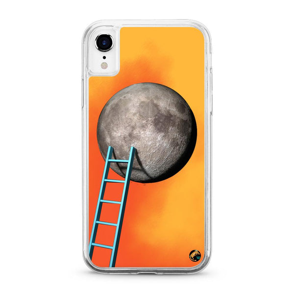 Moon Pattern Neon Quicksand iPhone Case for iPhone XR - The Great Planet Official Store