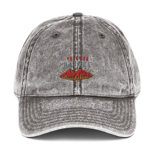 Vintage Cotton Twill Cap - Vote For Nature - Thegreatplanet