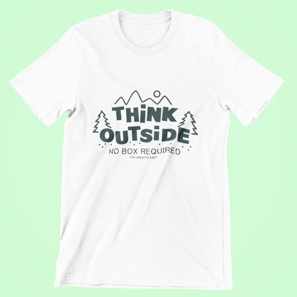 Unisex T-Shirt (THINK OUTSIDE) - Thegreatplanet