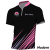 I Hate That Damn 7 Pin Premium Polo (Pink)