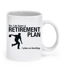 Bowling Retirement Mug