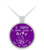 Bowl Like A Girl Round Necklace Purple